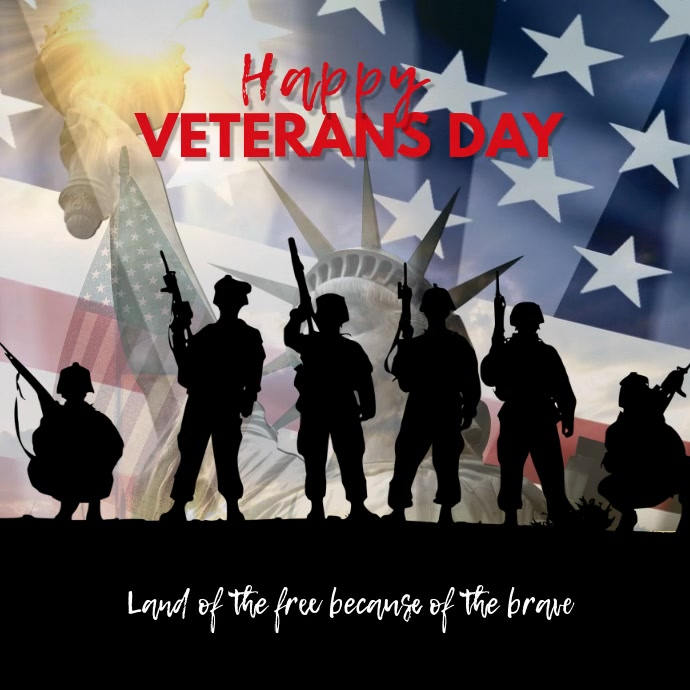 Customize this Veterans Day Instagram Post