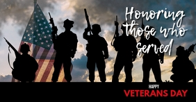 Customize this Veterans Day Shared Facebook template