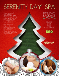 Customize this xmas holiday day spa flyer