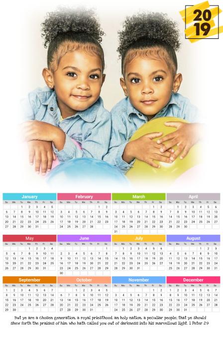 Cute Calendar 2019