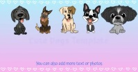 Cute Dogs Slideshow Template Facebook Shared Image