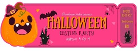 Cute Halloween Costume Party Ticket