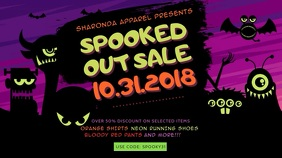 Cute Halloween Sale Digital Display Advertisement