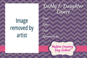 Cute Preppy Father Daughter Dance Party Invitation Flyer