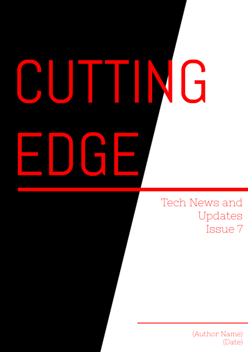 """Cutting Edge"" Magazine Cover"