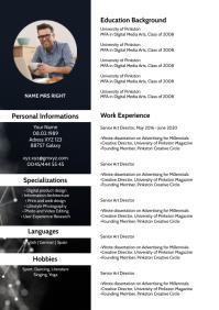 CV curriuculum Resume Template Design Job A4