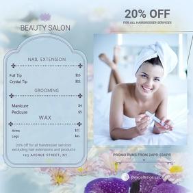 Cyan Beauty Salon Price List Instagram Ad