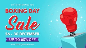 Cyan Boxing Day Sale Digital Banner template