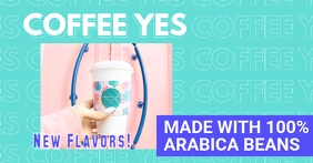Cyan Coffee Brand Funky Facebook Shop Cover