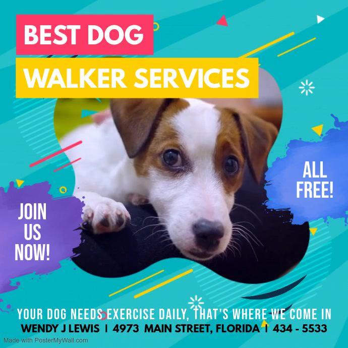 Cyan Dog Walking Service Video Ad