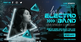 Cyan Electronic EDM Online Music Stream Ad