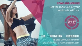 Cyan Fitness Business Facebook Cover Video