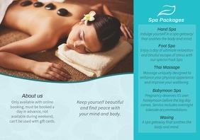 Cyan Spa Beauty Parlour Brochure Back