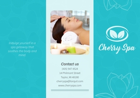 Cyan Spa Beauty Parlour Brochure Front