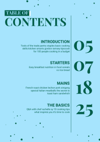 Cyan Table of Contents A4 template
