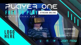 Cyan Twitch Streamer Online Profile Cover