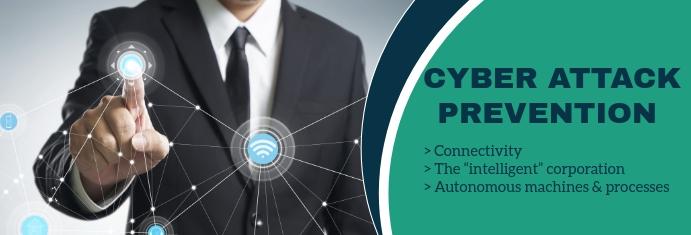Cyber Attack Prevention LinkedIn Bannier template
