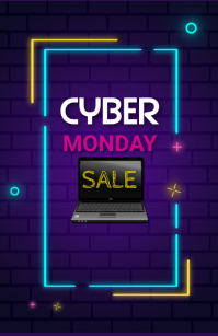 Cyber monday,sale,event Tabloid template
