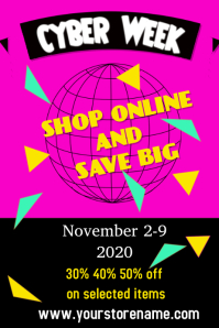 cyber monday 2020 Poster template