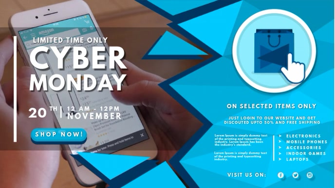 Cyber Monday Accessories Sale Digital Signage