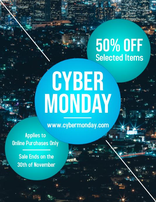 Cyber Monday Advertisement Flyer Design
