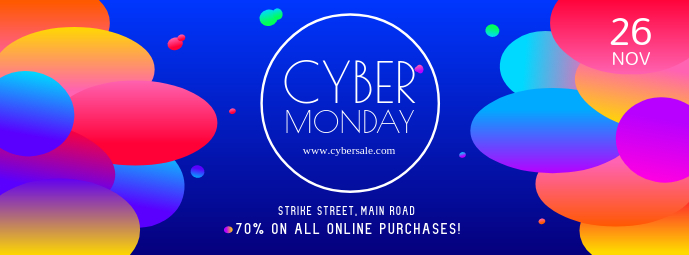Cyber Monday Bright Facebook Cover Photo