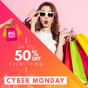 Cyber Monday Clothes Sale Ad
