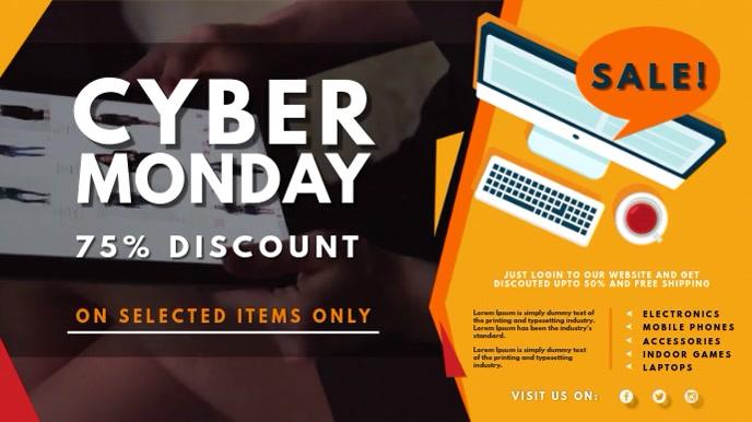 Cyber Monday Computer Sale Digital Signage