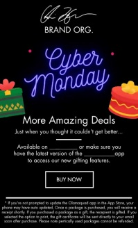 Cyber Monday Deals Email Template US na Legal