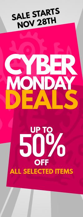 Cyber Monday Deals Flyer 半页信函 template