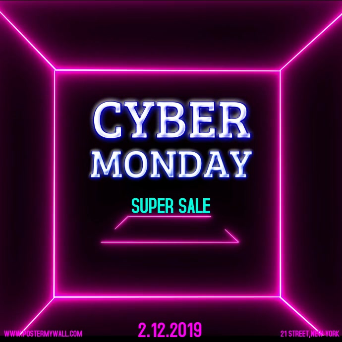 Cyber monday Instagram 帖子 template