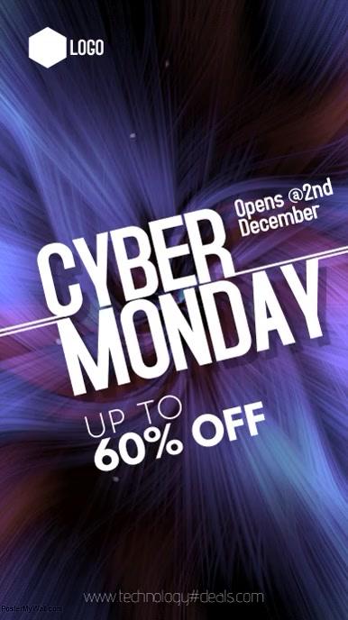 Cyber Monday Digital Display (9:16) template