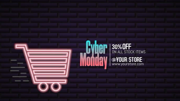Cyber Monday Digital na Display (16:9) template