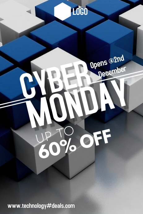 Cyber Monday Póster template