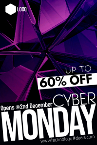 Cyber Monday Plakat template