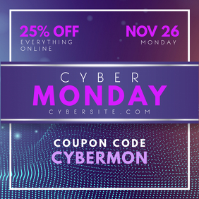 Cyber Monday Digital Advert Design