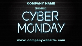 Cyber monday digital display 16:9 template