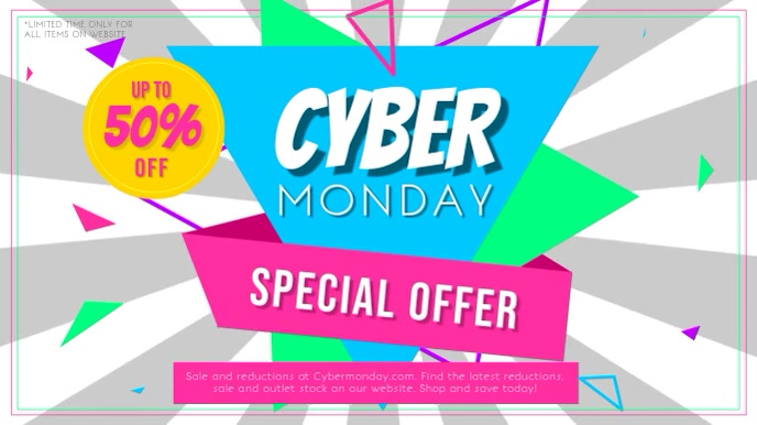 Cyber Monday Digital Display Video template