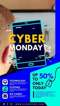 Cyber Monday Digital Sale Signage