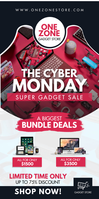 Cyber Monday Electonics Banner template