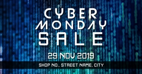 Cyber Monday event Facebook 活动封面 template