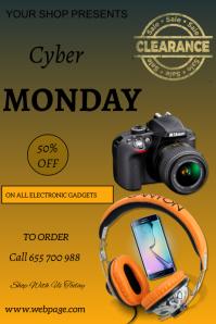 Cyber Monday flyer Plakkaat template