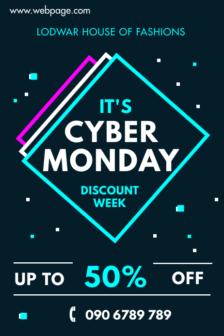 CYBER MONDAY FLYER Poster template