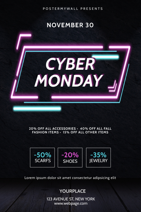 Cyber Monday Flyer Template 海报