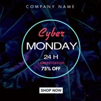 cyber monday instagram post advertisement template