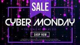 Cyber Monday Landscape Digital Display Video