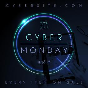 Cyber Monday Neon Ad