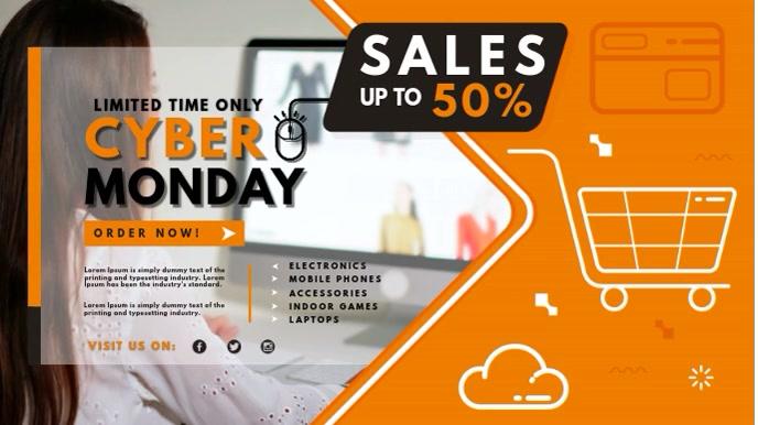Cyber Monday Online Sale Digital Display