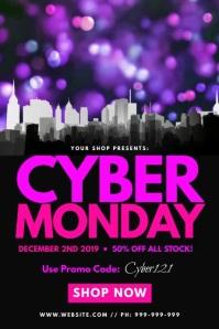 Cyber Monday Poster Плакат template