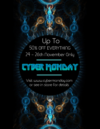 Cyber Monday Retail Flyer